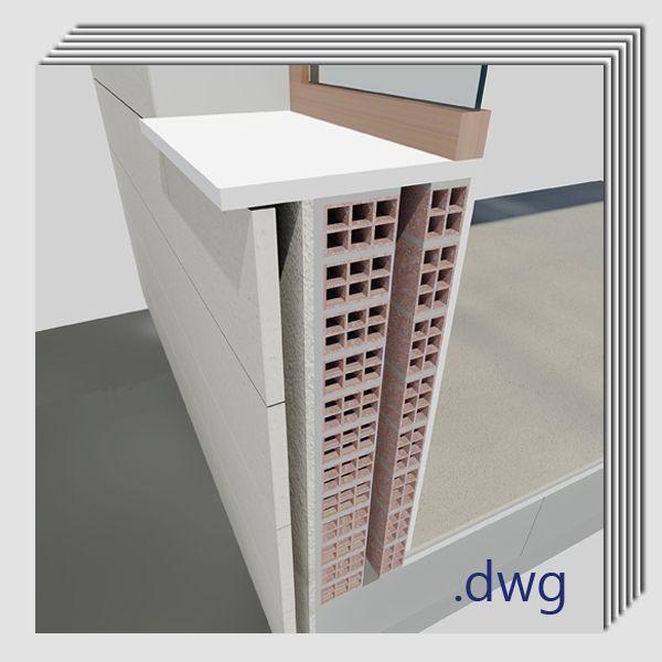 Pack detalles constructivos .dwg y .pdf: Realización de aislamiento térmico en fachadas con carencia del mismo.