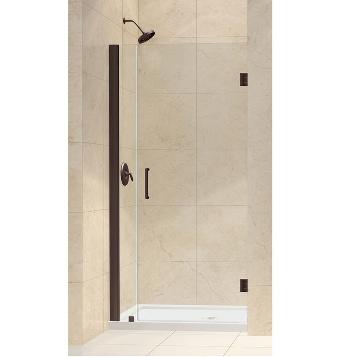 dreamline unidoor 34inch min to 35inch max frameless hinged shower door by dreamline