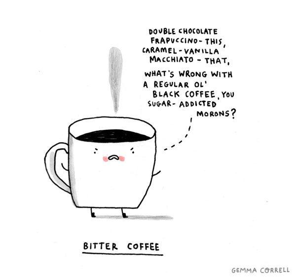 bitter coffee by gemma correll, via Flickr