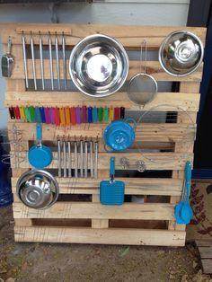 Toddler Pallet Music Wall DIY | Kooky Kronks