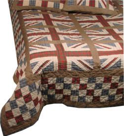 I like checkerboard framing of flag blocks - Olde Glory country store in the UK specialising in American Quilts.