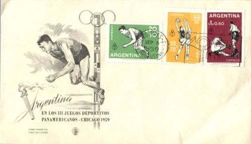 1959 argentina #multicolored franking #olympics #basketball first day cover,  View more on the LINK: 	http://www.zeppy.io/product/gb/2/371517379702/