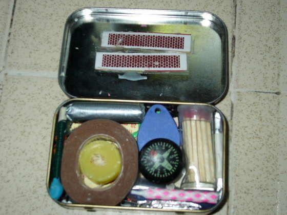Altoids tin survival kit. I'd put this in my car.