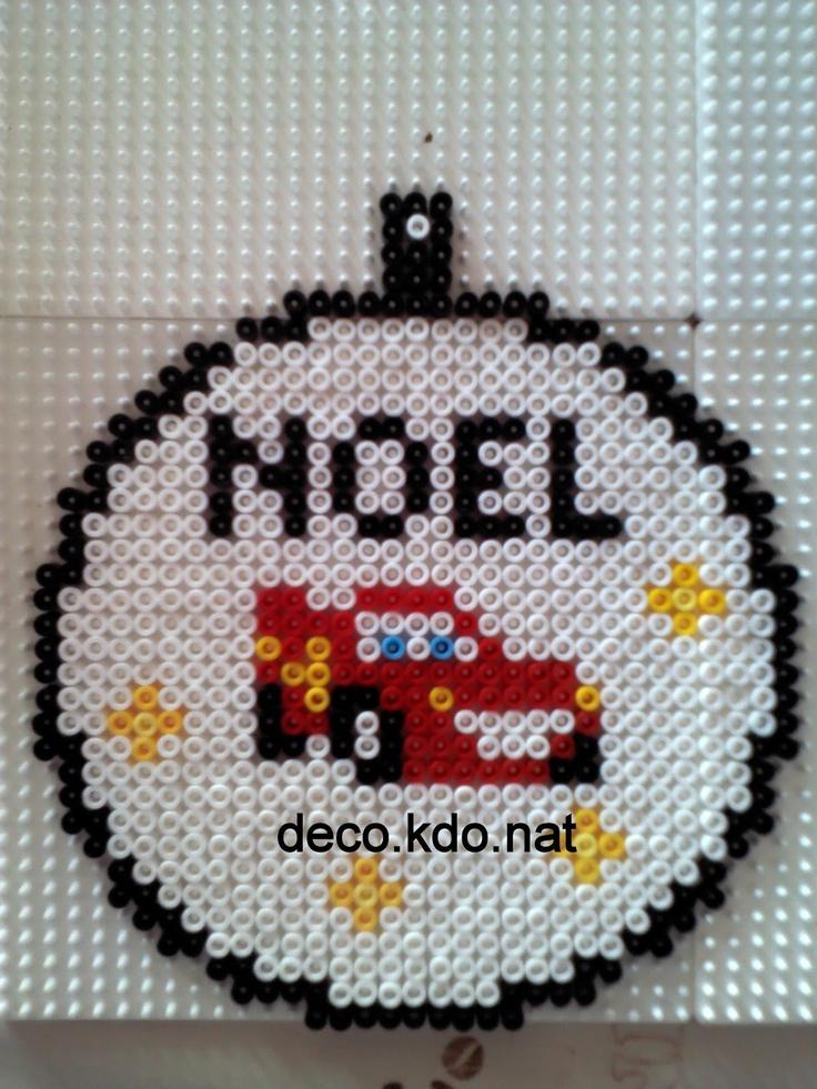Noel cars pixar hama beads by decokdonat hama pinterest voitures perles hama et perles - Perle a repasser noel ...