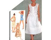 Simplicity Sewing Pattern 5460 Misses' Camisoles, Pull-on Skirt, Pantaloons, Romper