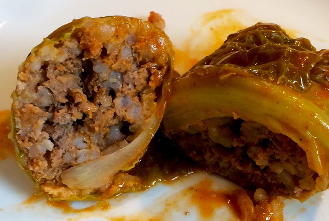 Delicious and healthy cabbage rolls.