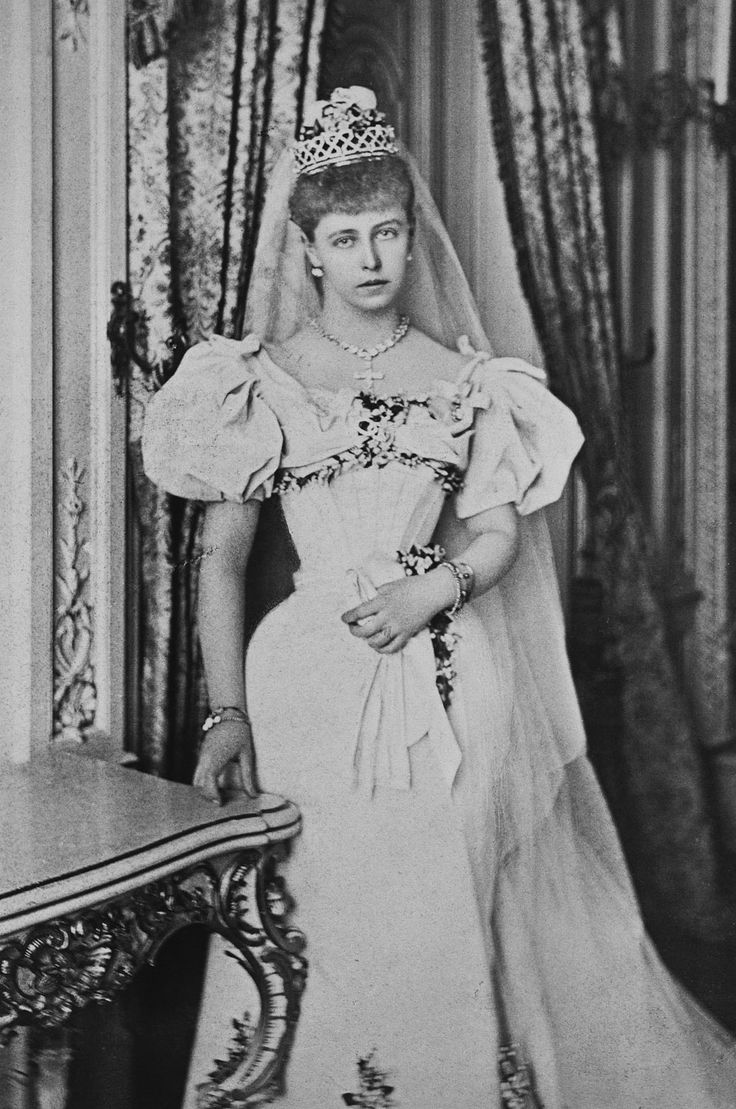 Princess Marie of Edinburgh on her wedding day, 10th January 1893 [in Portraits…