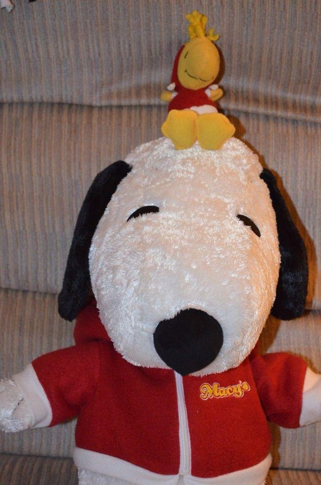 Jumbo 23 Snoopy And Woodstock Macy S Plush Stuffed Animal Ebay