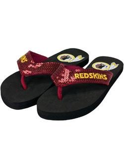 Redskins Sequin Flip Flops!