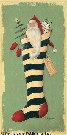 Stocking Surprise by Jill Ankrom art print