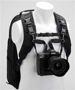 Then you attach the camera to the harness via the support straps. I want this for the long hikes that we go on...