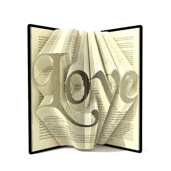 Hey, I found this really awesome Etsy listing at https://www.etsy.com/listing/236816673/book-folding-pattern-love-278-folds