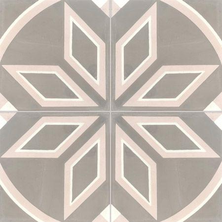 Carreaux de ciment - décors 4 carreaux - Carreau COMPTOIR 27.04.10 - Couleurs & Matières