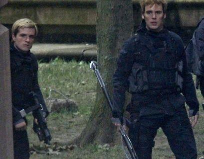 Sam and Josh on set.