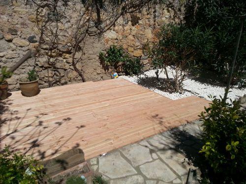 Terrasse en bois Douglas
