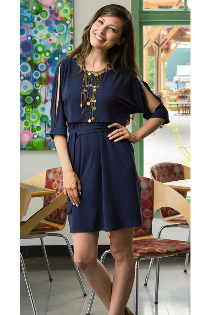 Everyday nursing dress is fun and fashionable and perfect for any occasion. No one would ever guess it is for breastfeeding. Nurse discreetly in this dress. - milkandbaby.com