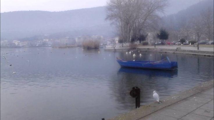 Ενα χειμωνιατικο πρωινο στη λιμνη της Καστοριας