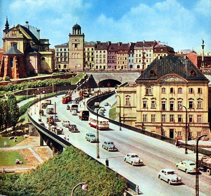 Trasa WZ pod koniec lat 50-tych  źródło fot. omni-bus.eu