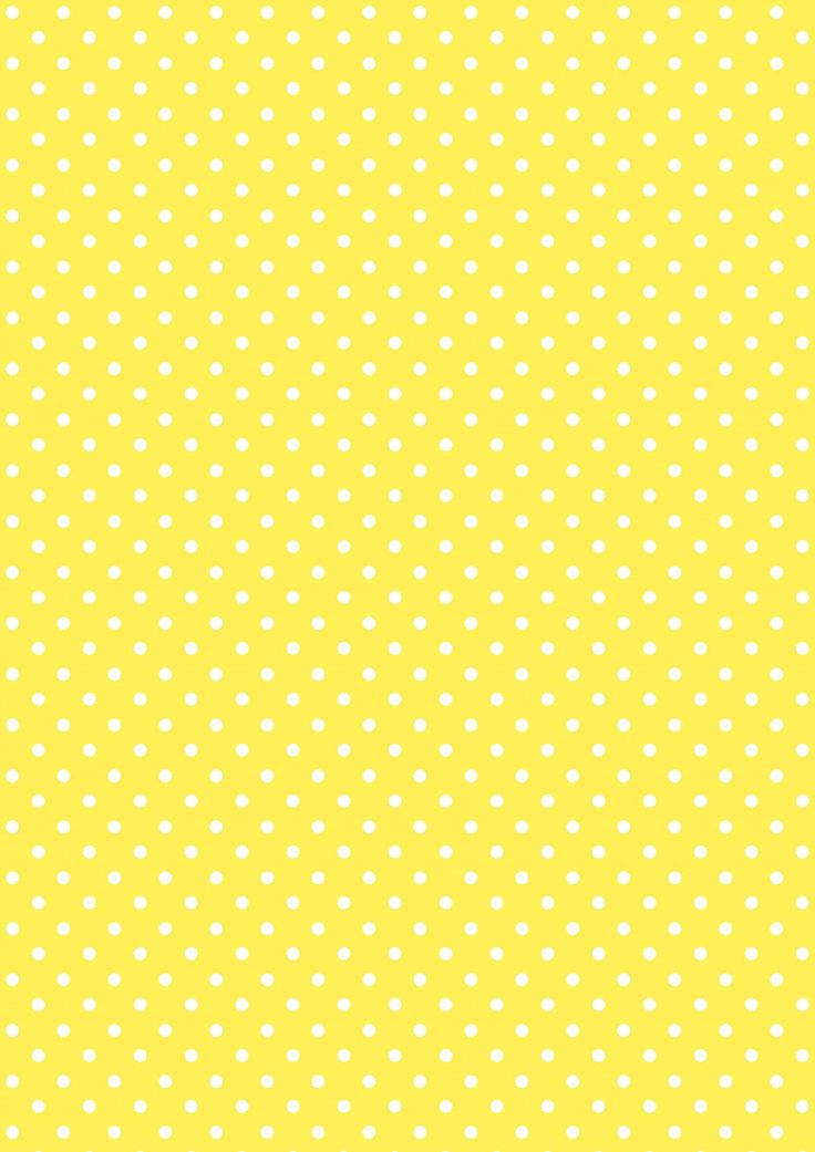 FREE printable polka dot pattern paper ^^ | yellow