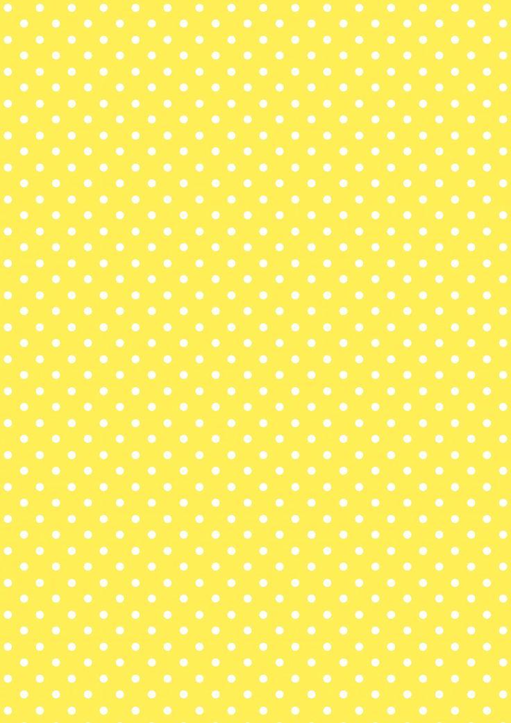 FREE printable polka dot pattern paper ^^ | yellow