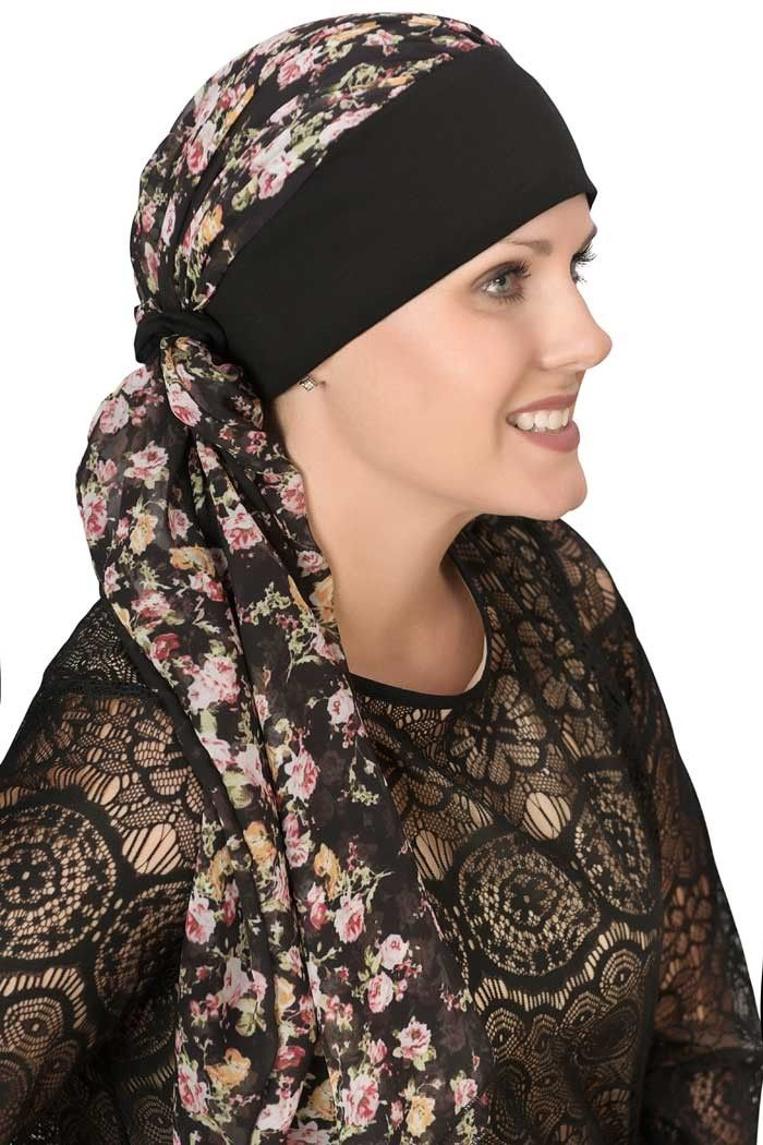 Melanie Headband Scarf - Pre Tied Head Scarves for Cancer Patients