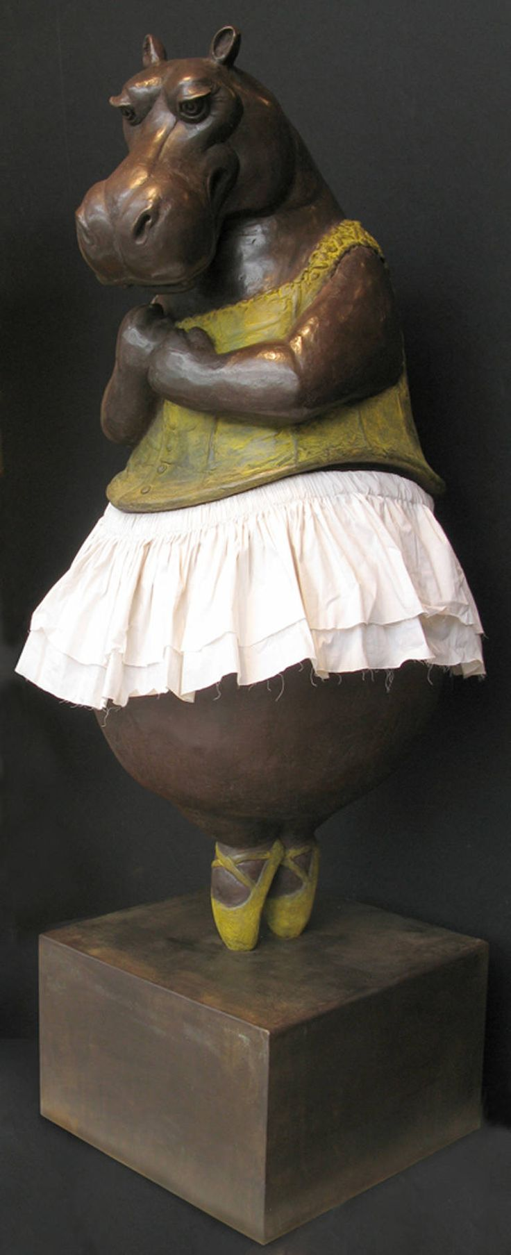 Hippopotamus Ballerina II, 2014   From a unique collection of figurative sculptures at https://www.1stdibs.com/art/sculptures/figurative-sculptures/