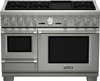 1.4 Cu. Ft. Steam Cavity/ 1.1 Cu. Ft. Warming Drawer/ 1630 Watt Electric Griddle/ SoftClose Hydraulic Hinge/ 6 Sealed Burners/ All Glass Smooth Surface Warming Drawer/ 9 Advanced Conventional Cooking Modes/ Steam Clean/ Third Element Convection/ 4000 Watt 8-Pass Broil Elements/ Full Access Telescopic Racks, Integrated Easy-Grip Handle/ Star-K Kosher Certified/ Continuous Cast Iron Grates/ Hidden Bake Element/ Stainless Steel Finish