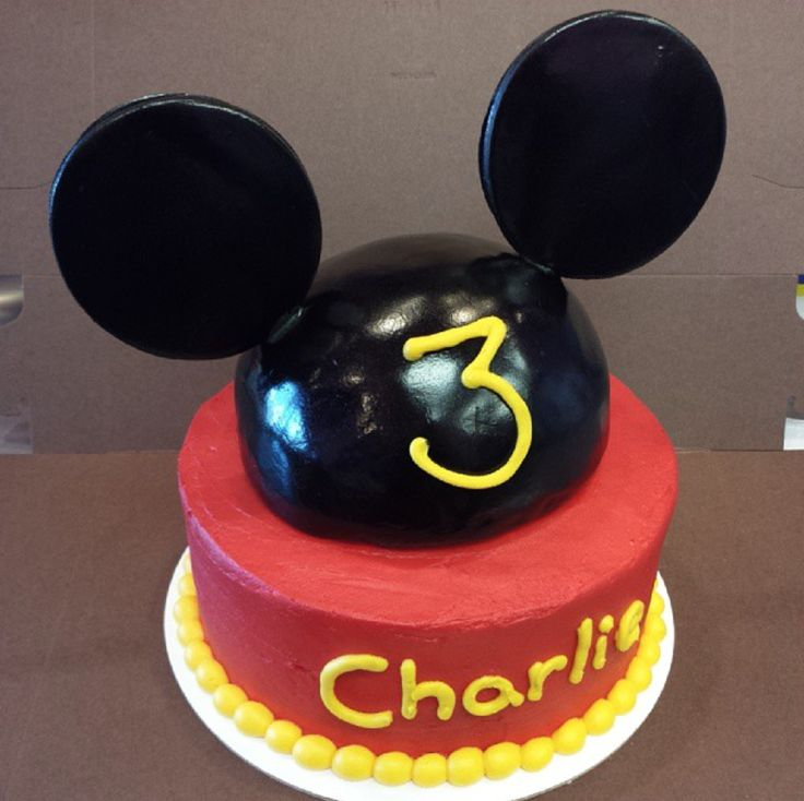 Mickey Mouse 3rd birthday cake by Frostings Bake Shop