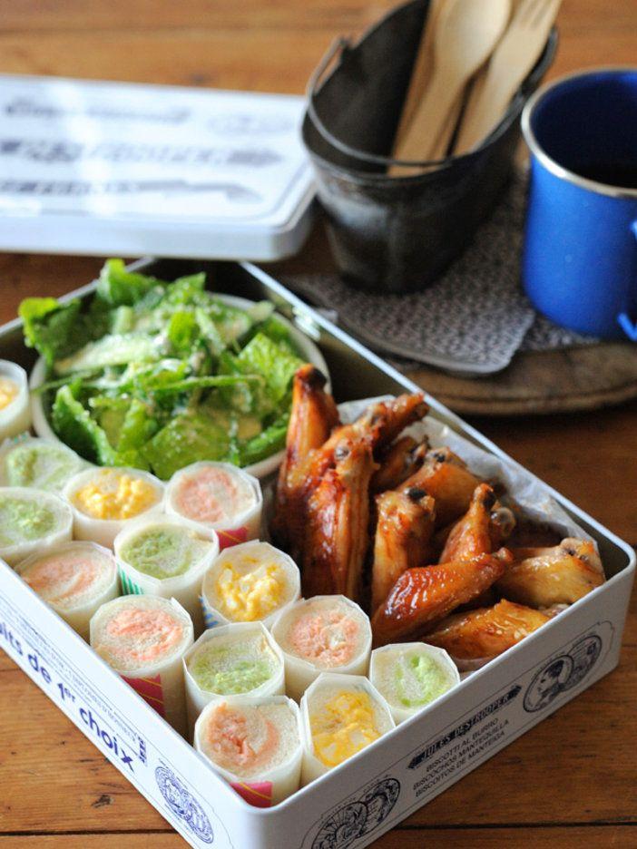 【ELLE a table】3色ロールサンド弁当レシピ|エル・オンライン