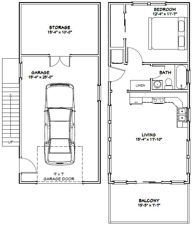 16x36 House 16x36h9b 744 Sq Ft Excellent Floor Plans