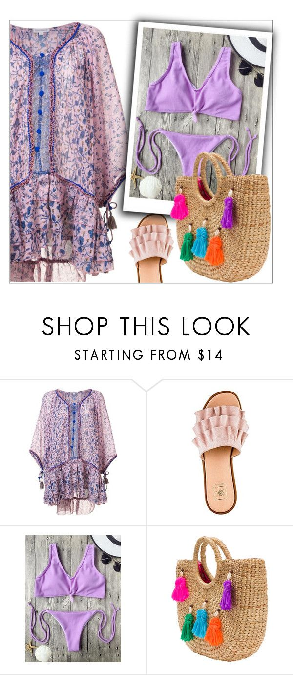 """""""Purple Bikini"""" by nastenkakot ❤ liked on Polyvore featuring Poupette St Barth and JADE TRIBE"""