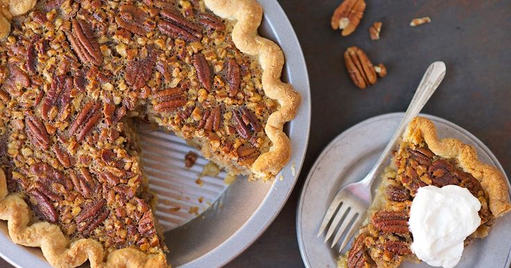 Old-Fashioned Pecan Pie Recipe (without corn syrup)| King Arthur Flour  For Chocolte Pecsn Pie: Stir in 3/4 cup semi sweet choc. chips