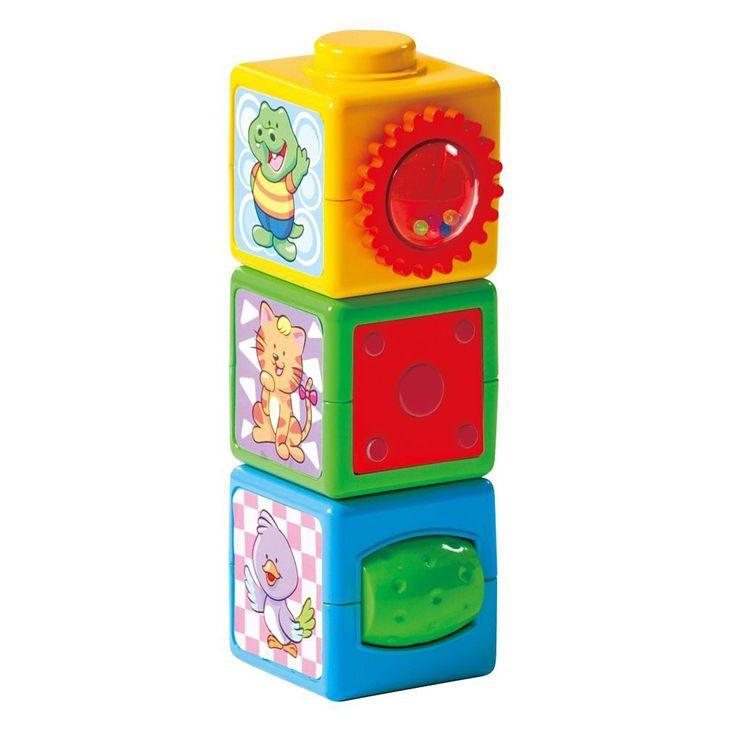 Ga op een vrolijke ontdekkingsreis met de ABC speelblokken van Playgo. Stapel de vrolijk gekleurde blokken op elkaar en ontdek wat er allemaal te beleven is. Stapel de blokken, duw op de knoppen en draai aan de ratels. De vele activiteiten en de kleurrijke afbeeldingen maken van de blokkenset een vrolijk geheel. Spelen met de blokken stimuleert de ontwikkeling van oog-handcoördinatie, herkenning van oorzaak en gevolg en fijne motoriek.Afmeting: verpakking 11 x 8 x 28 cm - Playgo Speelblokken