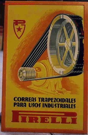 CARTEL PUBLICITARIO PIRELLI 1 EN CARTON