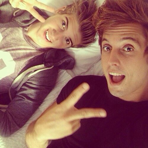 Joey Graceffa and sawyer Hartman
