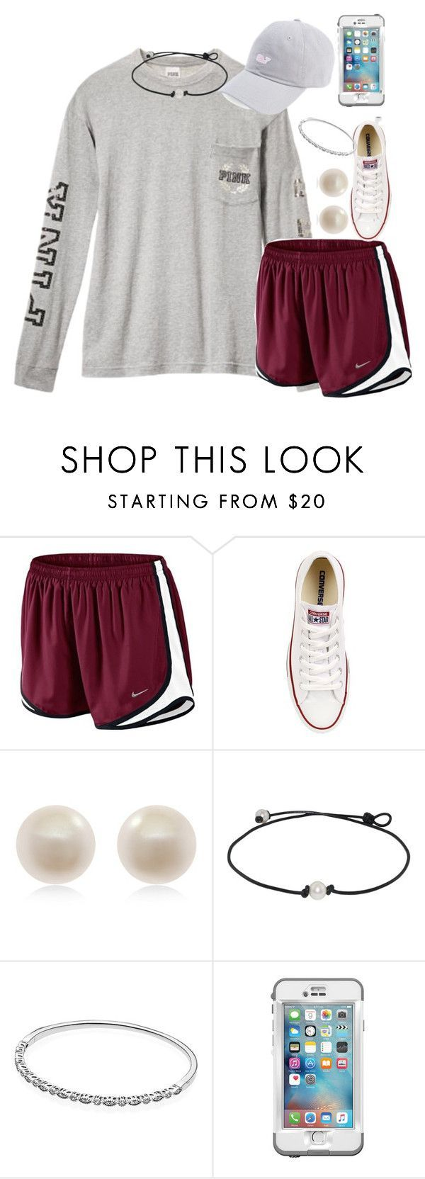 """Leavin the island"" by carolinaprep137 ❤ liked on Polyvore featuring NIKE, Converse, Links of London, Pandora and LifeProof"