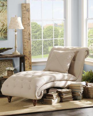 Tufted Linen Chaise Lounger #kirklands #pinitpretty