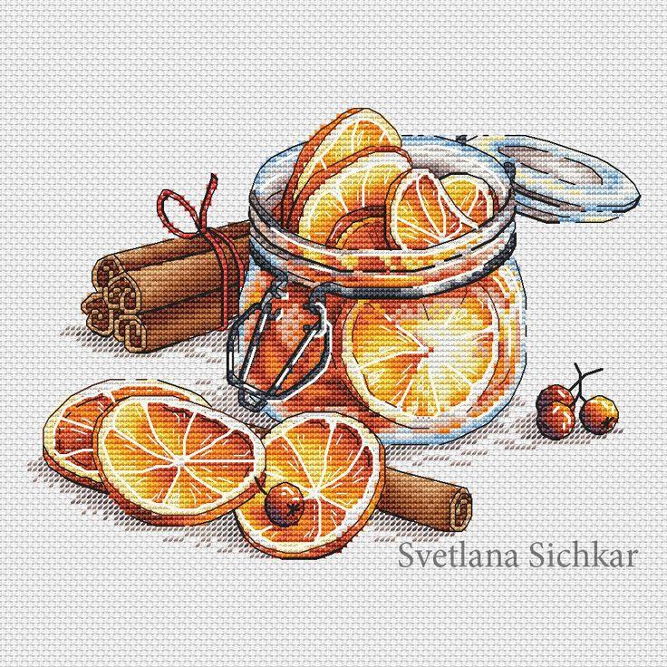 """Cross stitch design """"Jar with lemons"""" #sa_stitch #sa_pattern #pattern"""