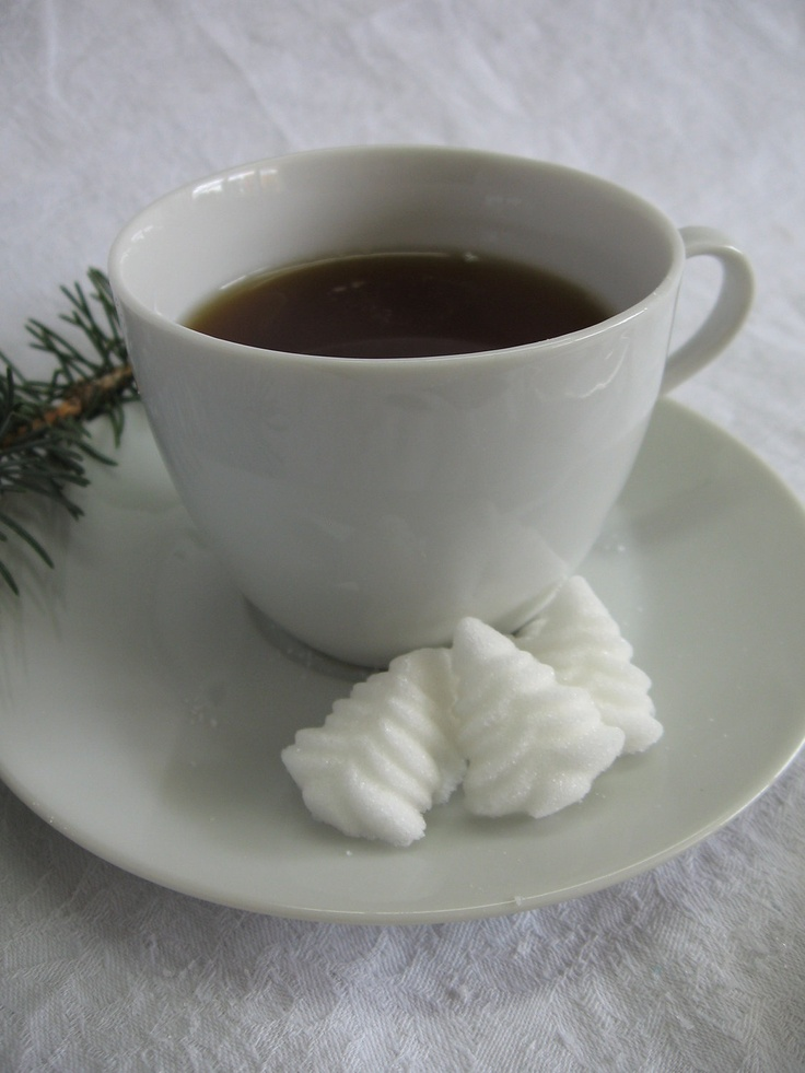 Christmas Tree or Evergreen Tree Shaped Sugar Cubes for Little Tea Parties, Showers, Holiday Entertaining, Embellishments 3 Dozen