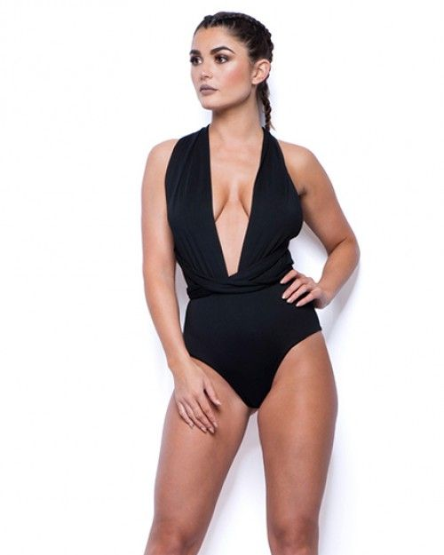 Multiway Sexy Womans Black Swimsuit - Thumbnail