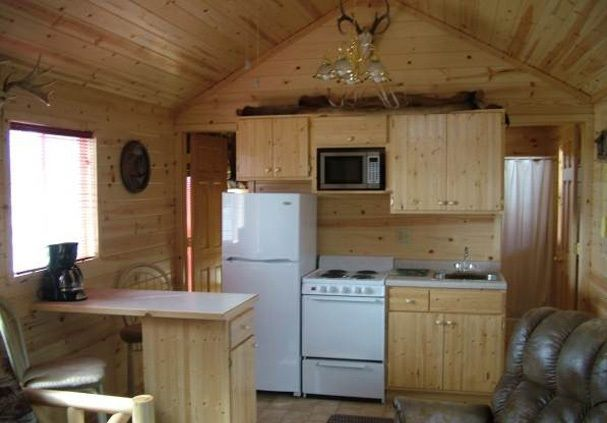 Vacation Cabin In A Nd Motel Estimate About 12 Wide Door On Left Leads To Bunk Bedroom Right Is A Small Tiny House Tiny House Movement Think Small