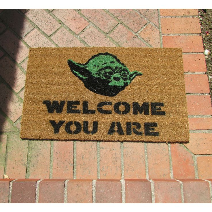 Yoda Welcome Mat get it here - http://shutupandtakemymoney.com/yoda-doormat