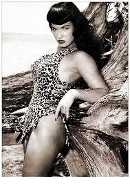 bettie page in leopard