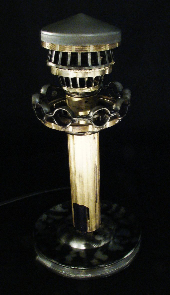Cottage lighthouse lamp 3 colors - Steampunk Lighthouse Lamp By Metalmorphoses On Deviantart