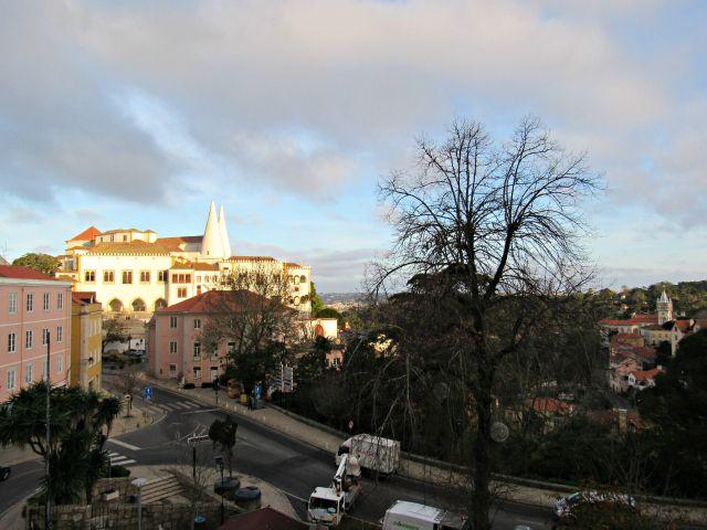 Vista do nosso quarto no Sintra Boutique Hotel