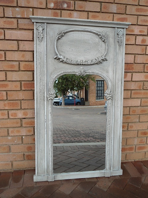 Grisaille Mirror with Artwork