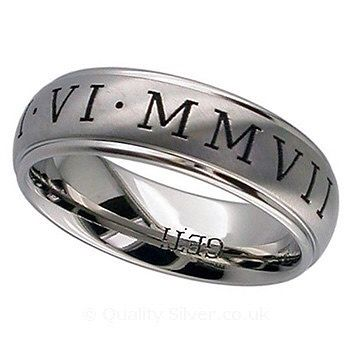 Can't beat a gorgeous #personalised  #titanium #weddingring #geti #weddings #weddingday #engaged #engagementrings