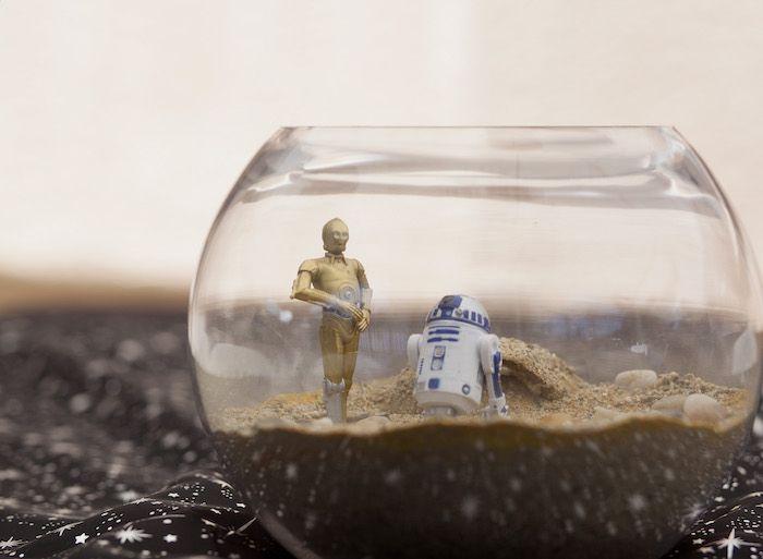 Star Wars Table Centerpiece From A Star Wars Birthday Party On Karau0027s Party  Ideas | KarasPartyIdeas