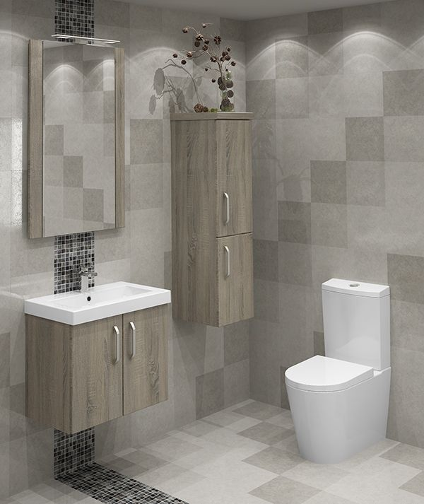 Bardolino Oak Modular Bathroom Furniture - On trend Bardolino Oak looks fantastic on our stylish modular units, which have an extended depth to provide you with an abundance of storage solutions.