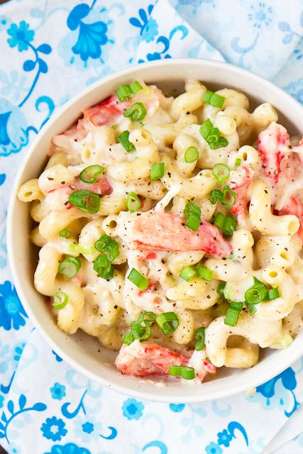 Stovetop Crab Macaroni & Cheese.. OMG even with imitation crab this looks like it would be AMAZING!